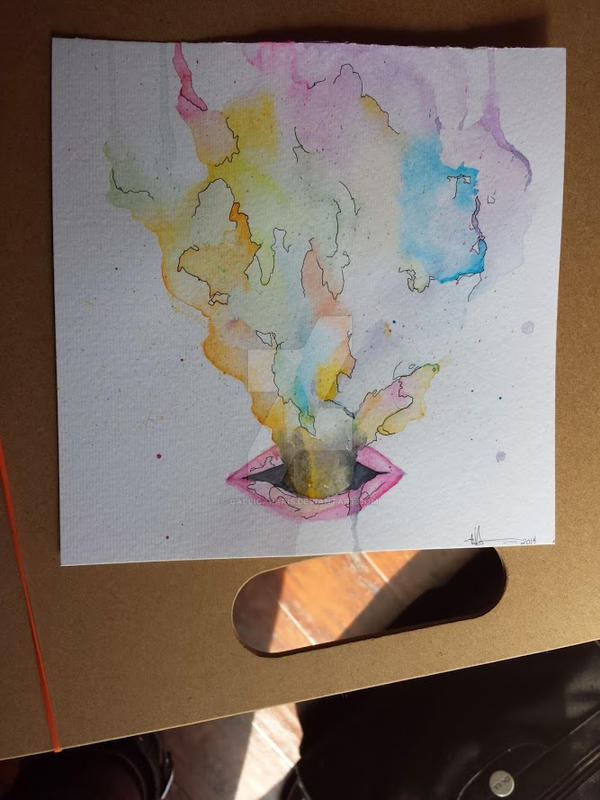 Watercolour attempt #2 by CallicaParis