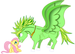 My little pony (DBZ): Fluttershy vs broly