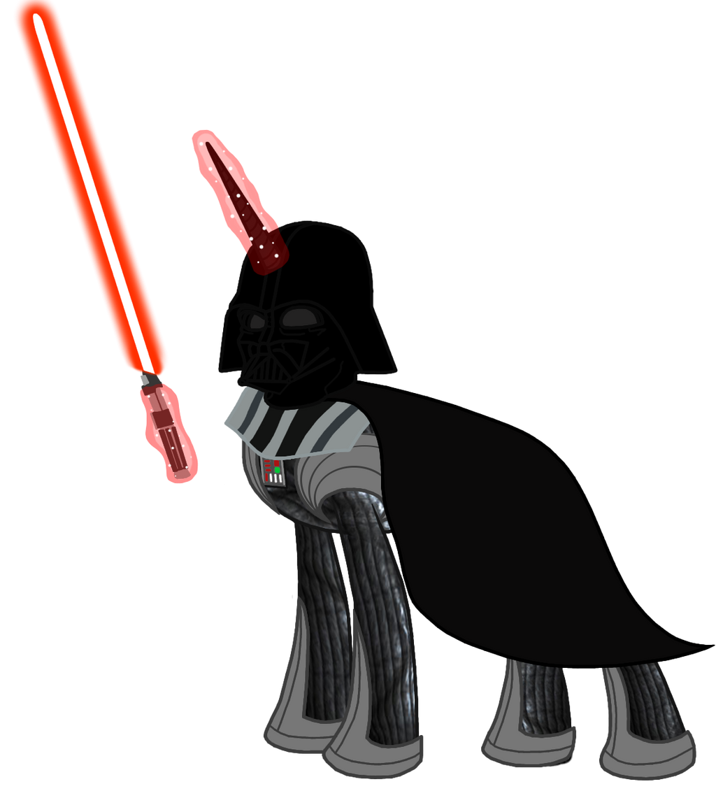 My Little Pony (Star Wars) Darth Vader by BlueThunder66