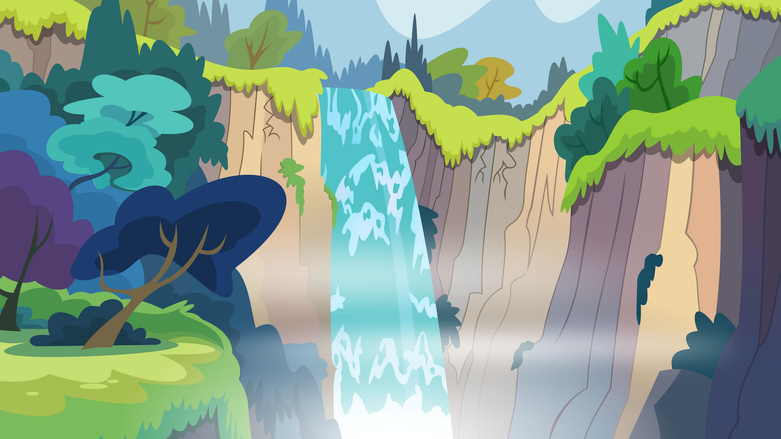 Waterfall by BlueThunder66