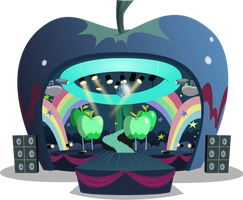Apple concert stage by BlueThunder66
