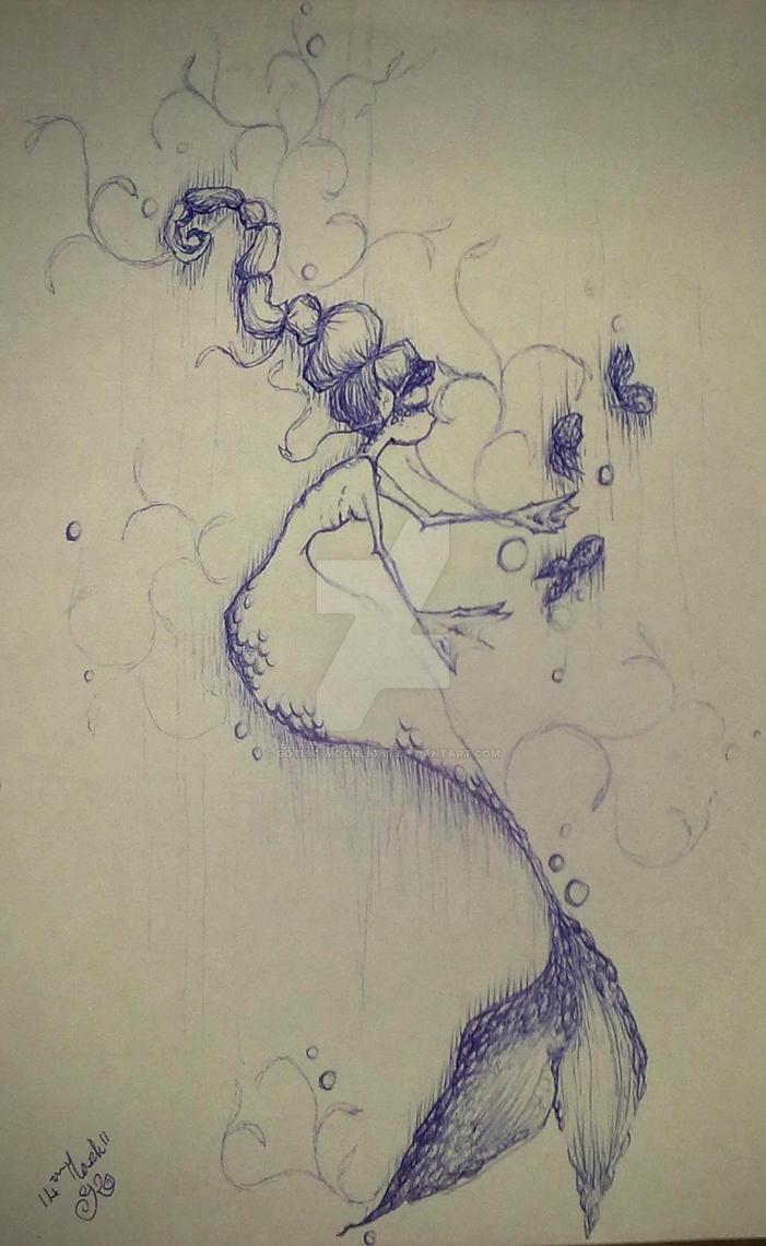 blue mermaid by Gothic-Moonlight