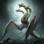 Godzilla: King of the Monsters - King Ghidorah by KENBARTHELMEY
