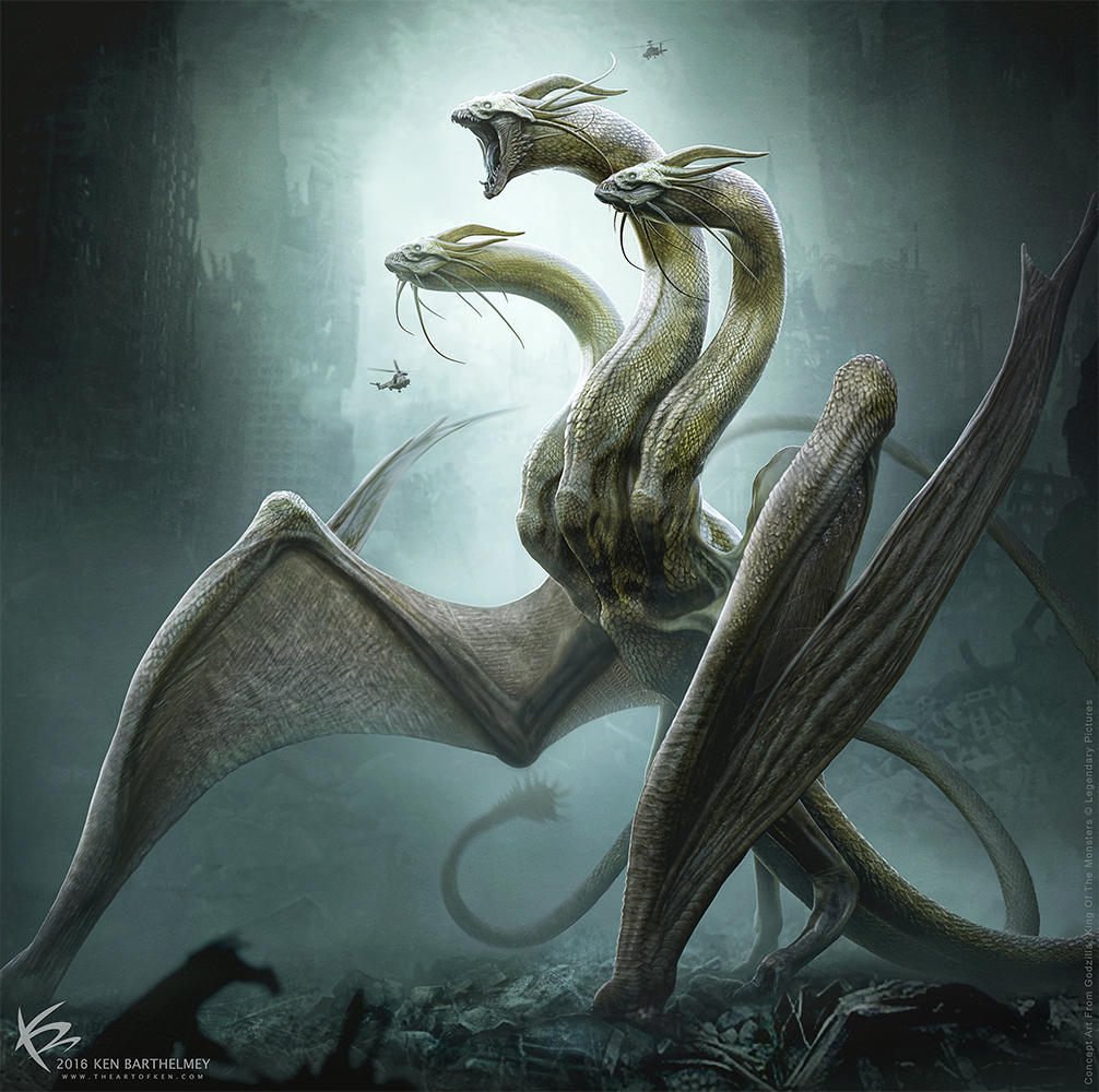 Godzilla King Of The Monsters King Ghidorah By