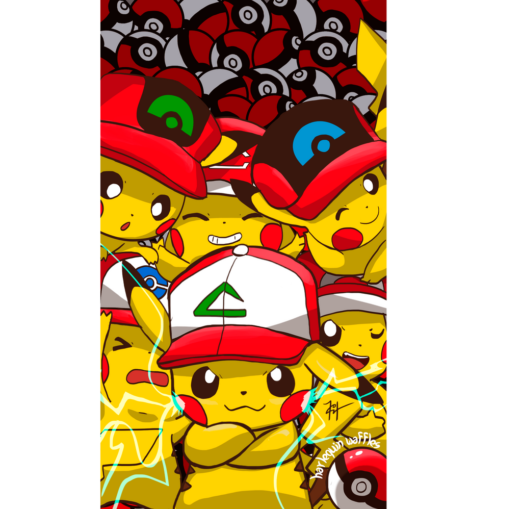 Ash Cap Pikachu By Harlequinwaffles On Deviantart
