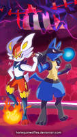 EXPLOSIVE DUO: CINDERACE AND LUCARIO!