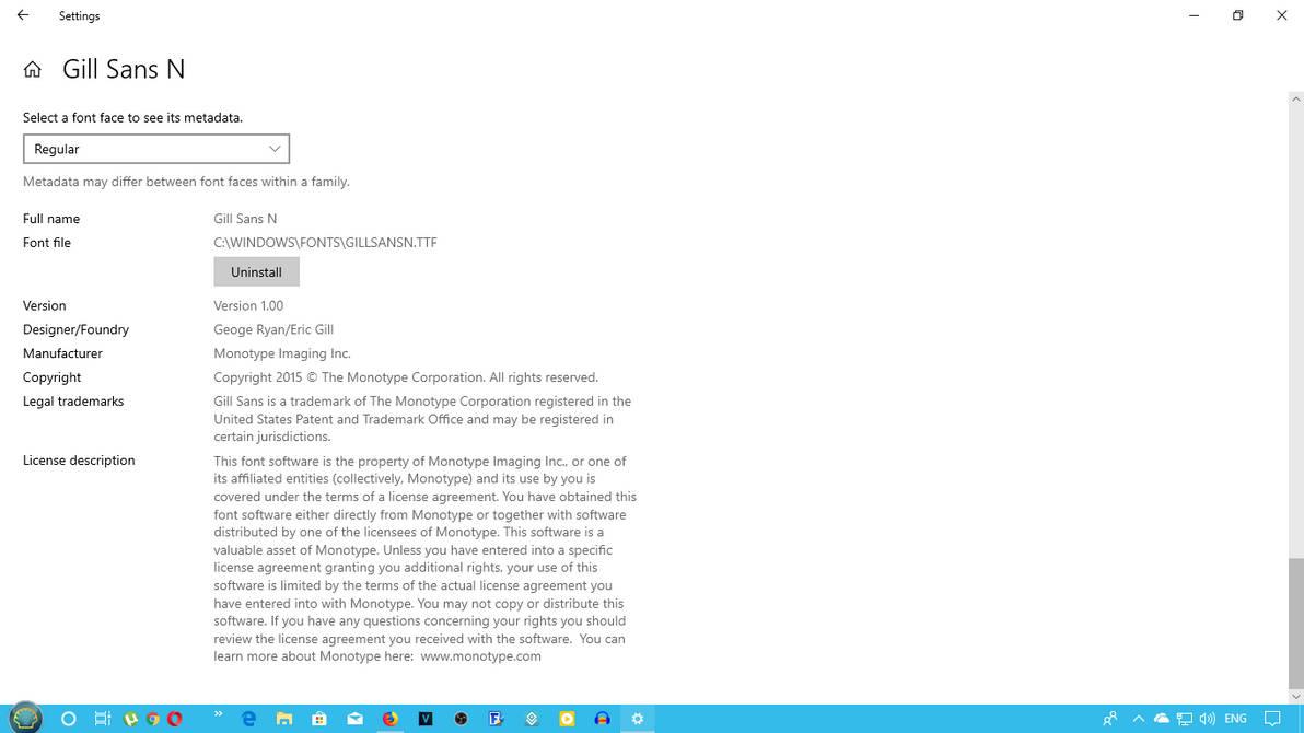Gill Sans Nova on Windows 10 build 1809 by PulseFewSpecials