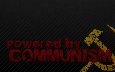 Powered by Communism desktop by trisreed