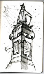 Sketchurmind - Pigeon Toilet by middlenameconde