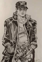 Jotaro Kujo JJBA:SO Pencil by zhe-holti
