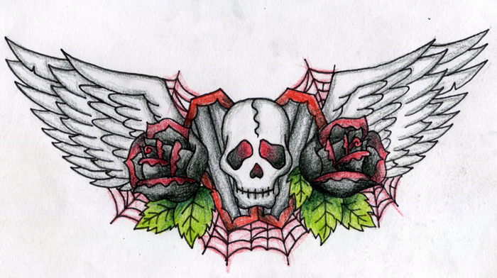 Tattoo design 1 color by