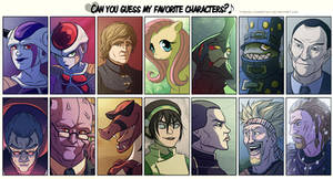 Can you guess my favorite characters?