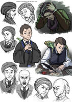 Quirrell sketches