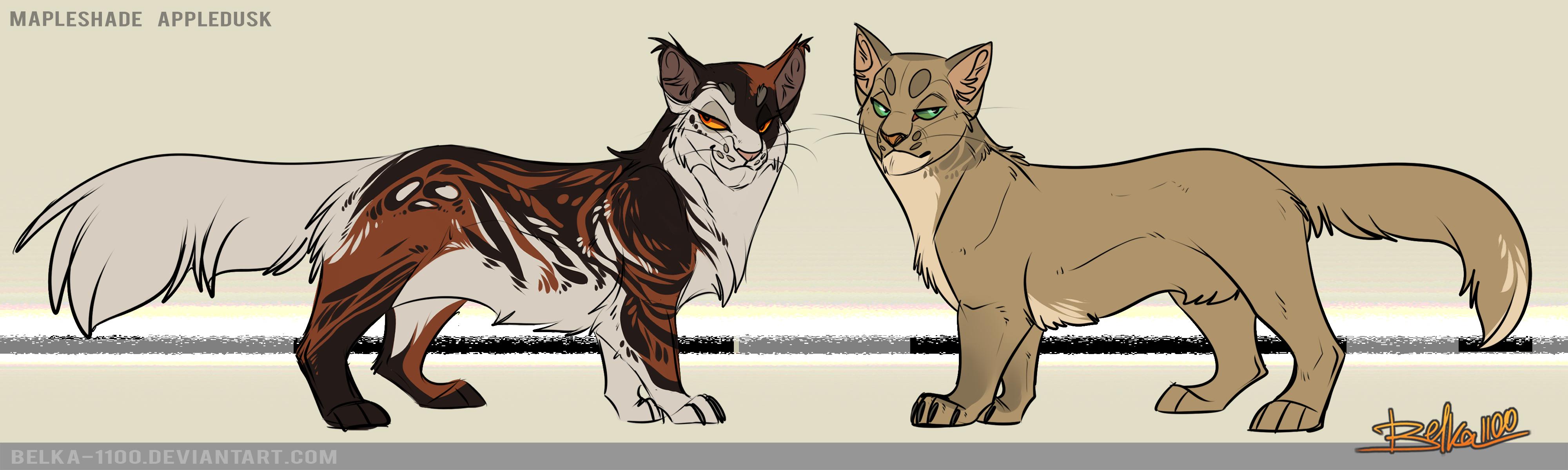 Warrior cats mapleshade and appledusk