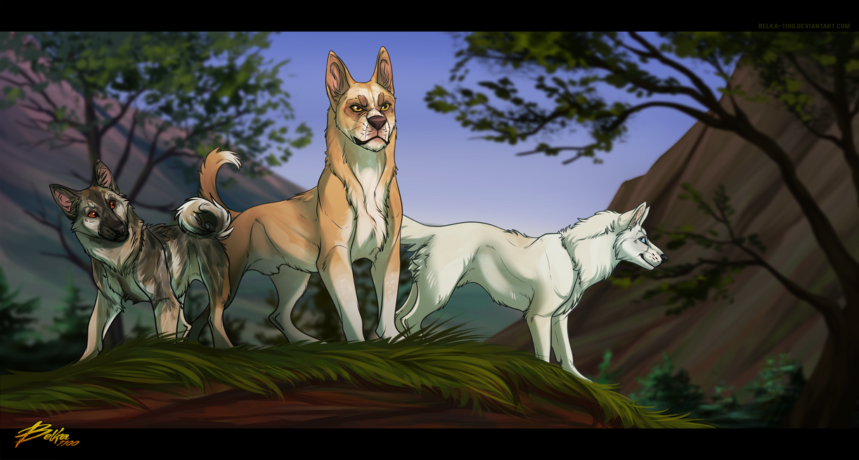 Dog pack - Commission by Belka-1100