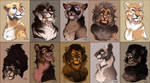 Lions Adoptables Portraits #12 by Belka-1100