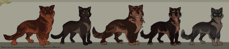 Pinestar x Leopardfoot's family