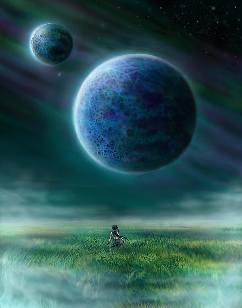 Lunar view by imaneggplant