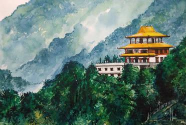 Monastery on the mountains