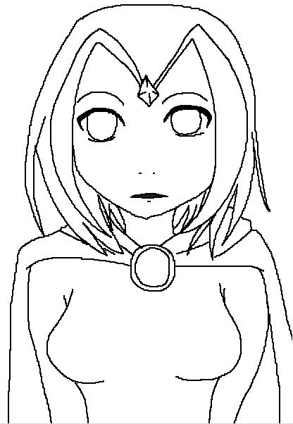 Line Drawing Raven : Raven line art by yankaushiro on deviantart