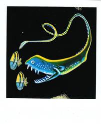anguila ballena luminosa by VvVa