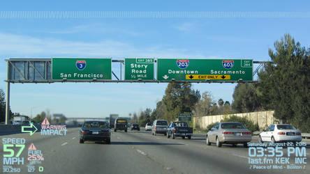 I-3 Northbound in San Jose by KEKInc