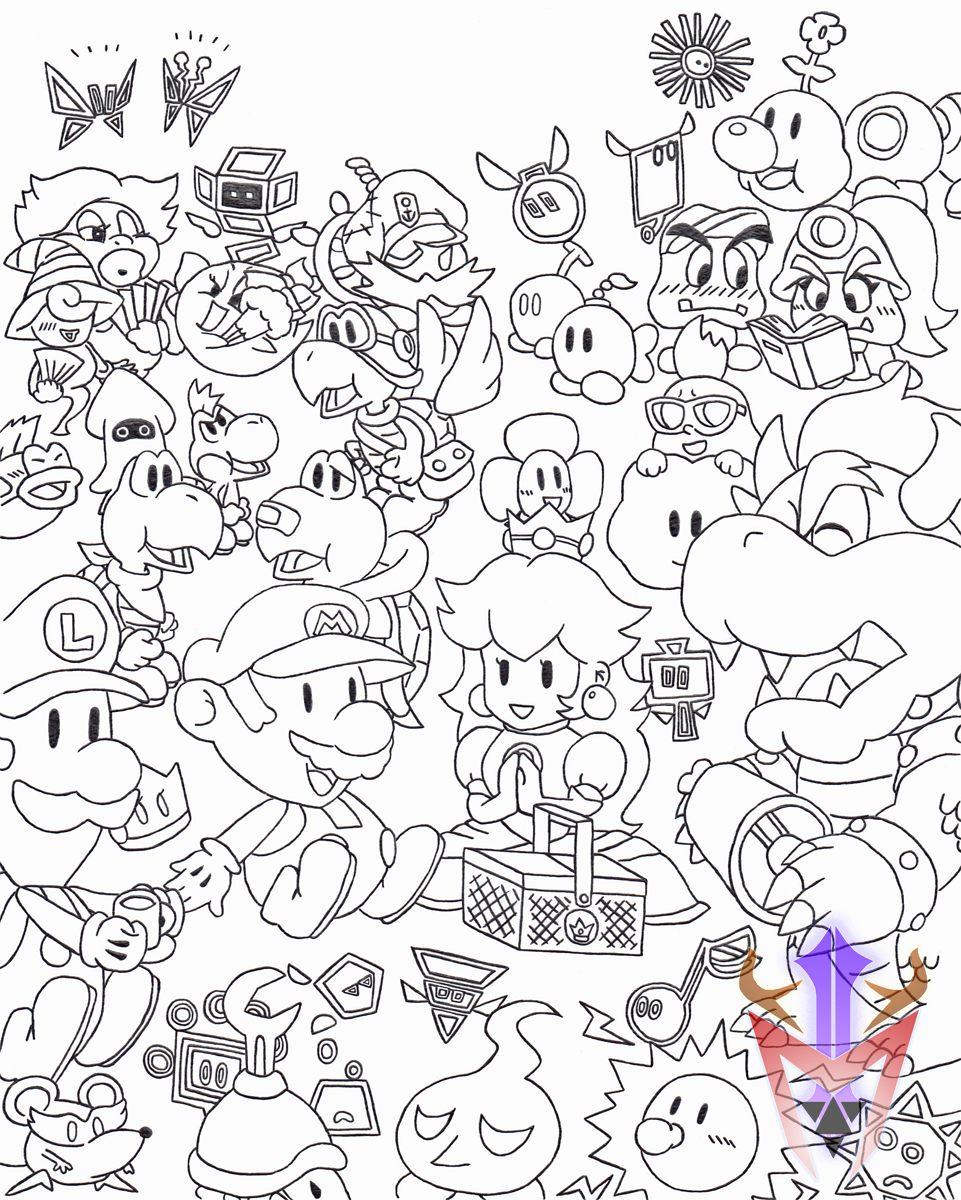 Cubicle Drawing 09 Paper Mario Picnic By Dragoonmyuutsu On