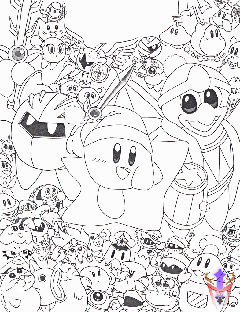 how to draw kirby buckets drawings