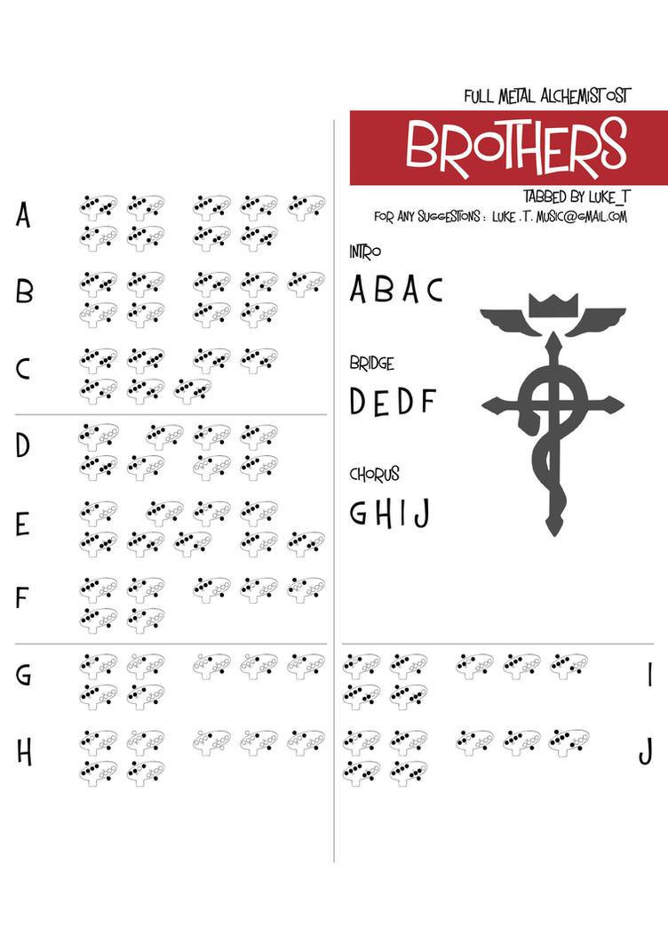 Ocarina Tab : Brothers - Full Metal Alchemist OST by Luke11010