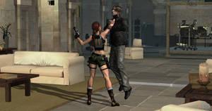 Lara Croft throatlift Leon 11