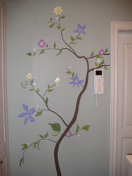 Wall Painting Flowers 4 by Nikske