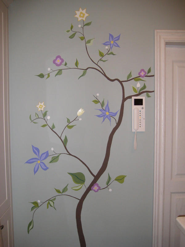Wall painting flowers 4 by nikske on deviantart A wall painting