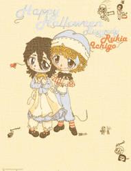 .:Raggedy rukia and ichigo:. by ArieruInuyasha