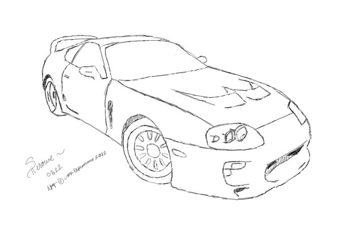 toyota supra coloring pages sketch coloring page