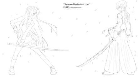 Saya -Blood- vs Himura Kenshin (5K Views-Thanks)