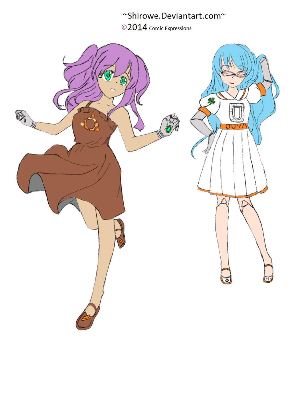 Ubuntu and Ouya (full color) by Shirowe