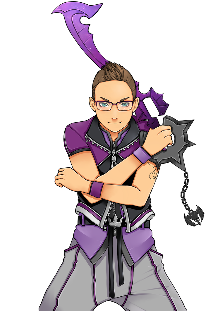 Kingdom hearts style Commission for Ejiah by kimbolie12