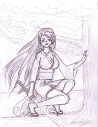 Samurai Girl Aly by thriethetiger