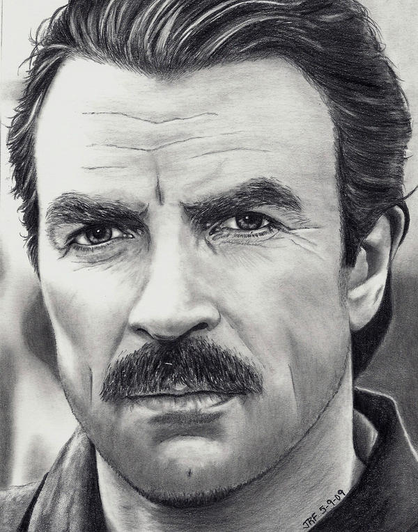 Tom Sellick by Rick-Kills-Pencils