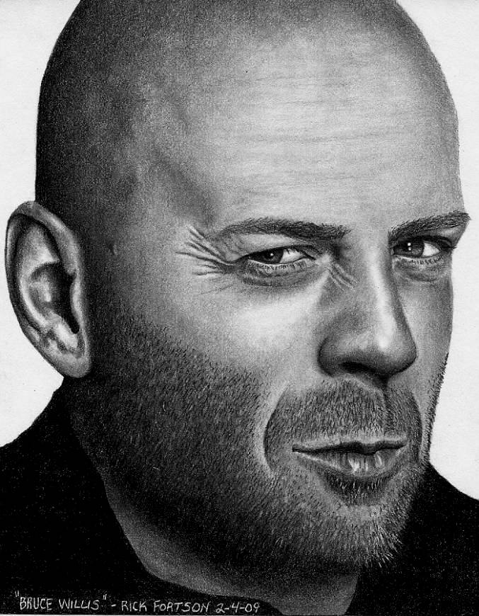 Bruce Willis by Doctor-Pencil