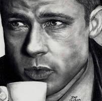 Brad Pitt - Oceans Twelve by Doctor-Pencil