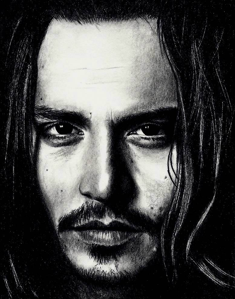Johnny Depp as self 2 by Rick-Kills-Pencils