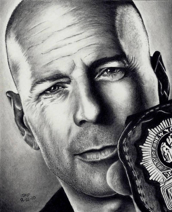 Bruce Willis - Cop Out by Rick-Kills-Pencils