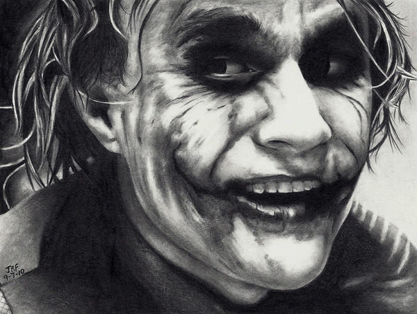Heath Ledger as THE JOKER by Doctor-Pencil