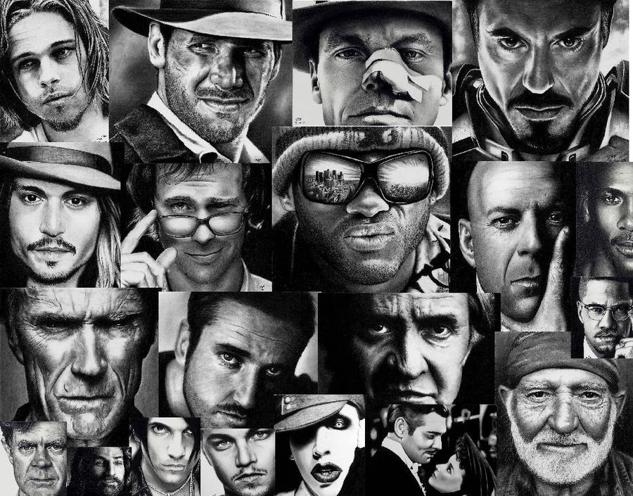 Wallpaper of my Drawings by Rick-Kills-Pencils