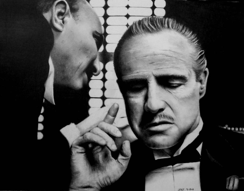 Marlon Brando - The Godfather by Doctor-Pencil