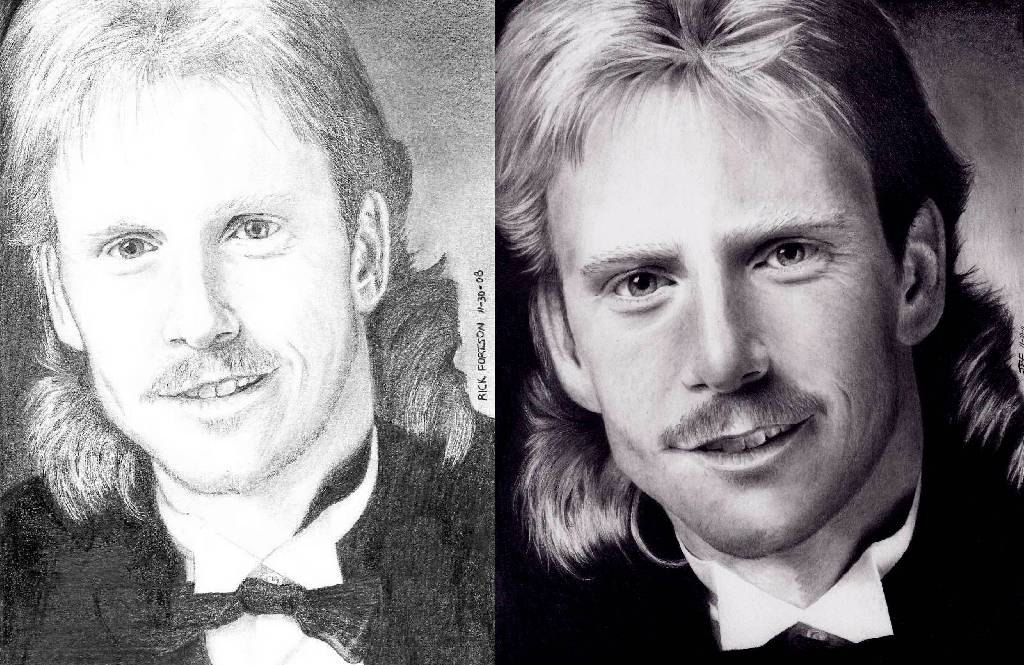 3 years of Progress - My brother Mark by Doctor-Pencil
