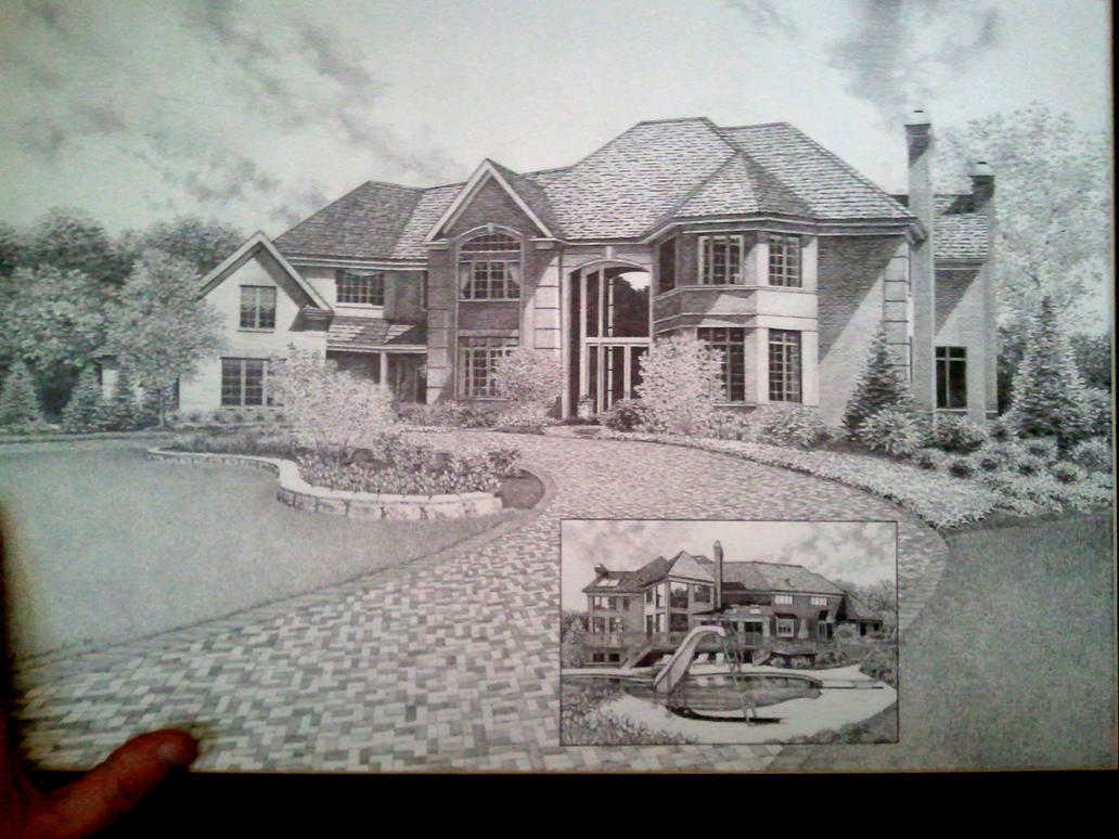 House Drawing by my friend by Rick-Kills-Pencils