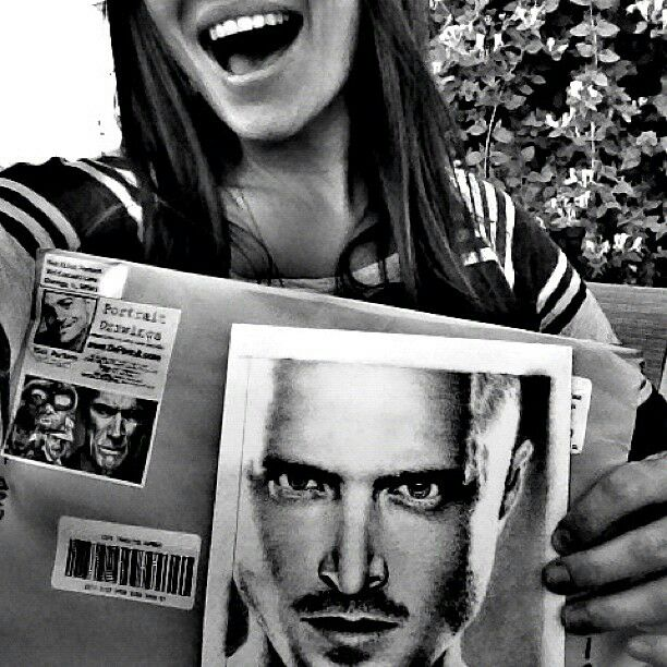 Aaron Paul's sister Danielle - with my Drawing by Rick-Kills-Pencils