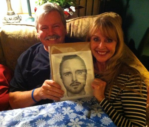 Aaron Paul's Parents - with my Drawing by Doctor-Pencil